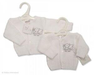 76dc4e12edbd Boy Girl Premature Tiny Baby Christening White Knitted Cardigan ...