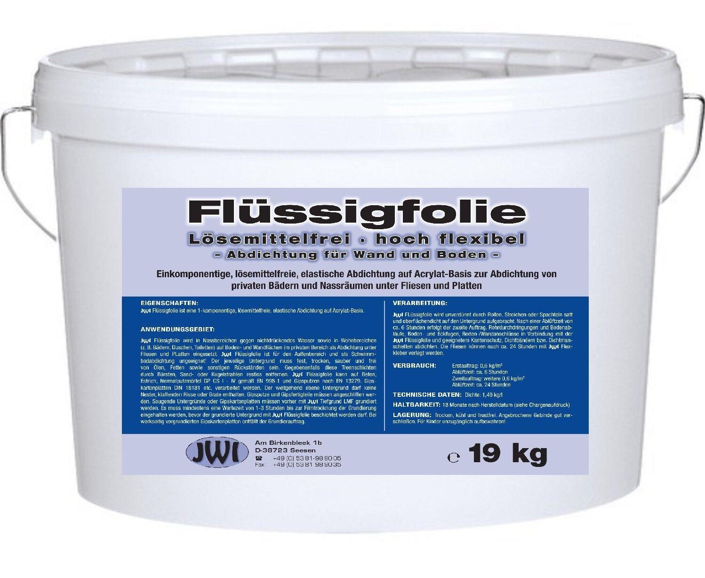 Dichtfolie Flüssigfolie Duschabdichtung Abdichtung Dusche Hoch Flexibel 19 kg