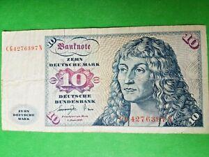 Germany Zehn 10 Ten Deutsche Mark German Banknote 1 Juni 1977 Ebay