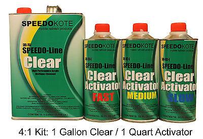 Acrylic Urethane Universal Clear Coat, SMR-1150/1102, 4:1 Gallon Medium Kit
