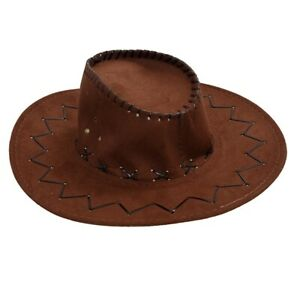 Men-039-s-hunting-Cowboy-Adjustable-jaw-strap-imitation-suede-hat-R8U9