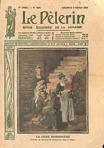 """Crise de la Sardine Pêche Pêcheurs de Concarneau Bretagne 1913 ILLUSTRATION - France - Commentaires du vendeur : """"OCCASION ATTENTION,QUE LA COUVERTURE, PAS LE JOURNAL ENTIER. Just the cover, not newspaper."""" - France"""