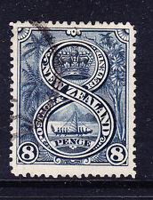 NEW ZEALAND QV 1898 SG255 8d Indigo - P12-16 - no wmk - very fine used. Cat £50