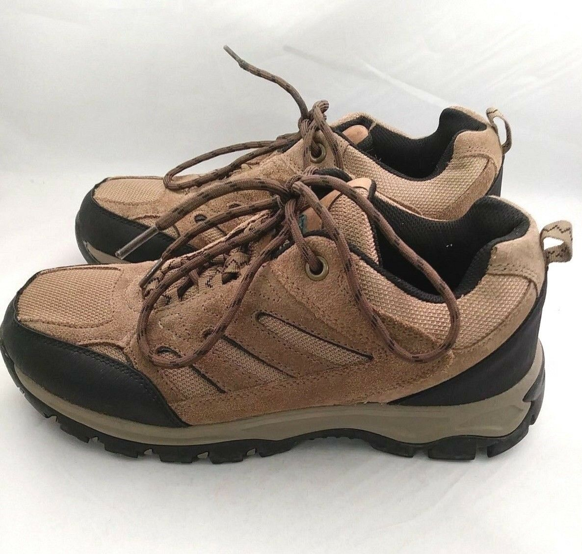 OUTDOOR  LIFE Clark Brown Suede Mesh Hiking Trail Walking shoes Men's Size 10  convenient