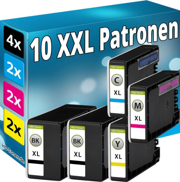 10x  TINTE PATRONEN für Canon Maxify MB2050 MB2150 MB2155 MB2350 MB2750 MB2755