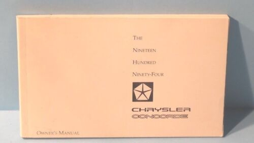 94 1994 Chrysler Concorde owners manual