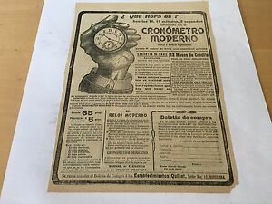 Old-Advertisement-Cronometro-Moderno-Annuncio-Antico-Original-Year-Anno-1918