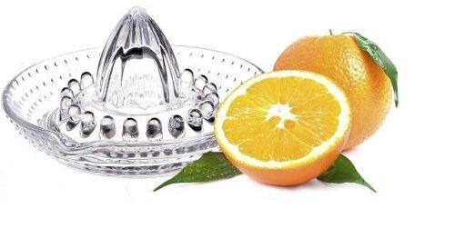 Glass Citrus Juicer Lemon Lime Orange Fruit Manual Hand Squeezer Press Tool Home