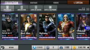 Injustice Gods Among Us Pack 4 Characters 10k Nth Metals Power Credits Android Ebay