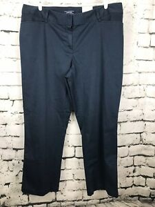 New-Lands-End-Women-039-s-Blue-Twill-Trouser-Pants-Mid-Rise-Straight-Leg-20W