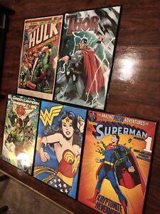 Vintage-marvel-Poster-Hulk-Spider-Man-Drawing-Superman-black-panther-stan-lee