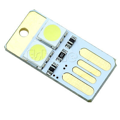 Portable Mini Pocket Card Lamp Bulb White Led Keychain LED Night Light USB Power
