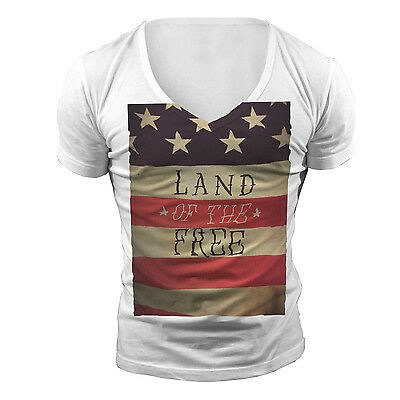 DEEP V NECK FREE TSHIRT T SHIRT TOP NEW US WHITE TOWIE GEORDIE SHORE MUSCLE VEST