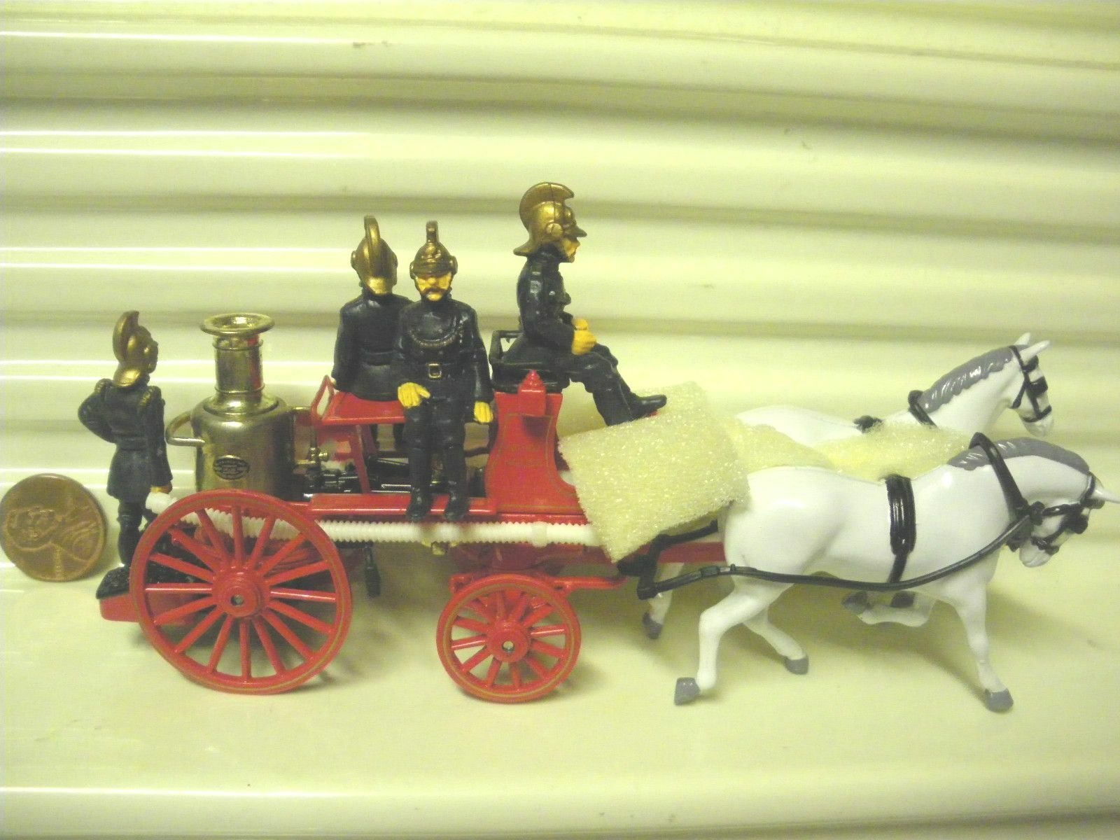 Matchbox Models of of of Yesteryear 1991 YS46 1880 MERRYWEATHER Fire Engine + Horses c71930