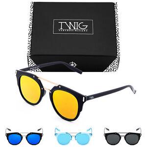 Sonnenbrille TWIG DICKINSON Verspiegelt Herren/Damen Jahrgang Retro 6roN1Xj