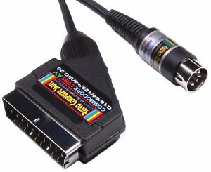 Commodore-64-C64-128-Plus-4-VIC-20-Quality-SCART-lead-Video-Cable-TV-A-V-Lead