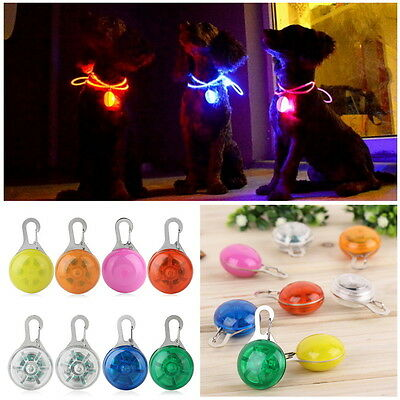 HOT Pet Dog Puppy LED Flashing Collar PET Safety Night Light LED Pendant IG