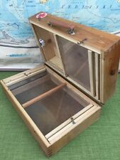 Vintage First Aid Box Medical Suitcase Made In Poland Wooden Storage Box