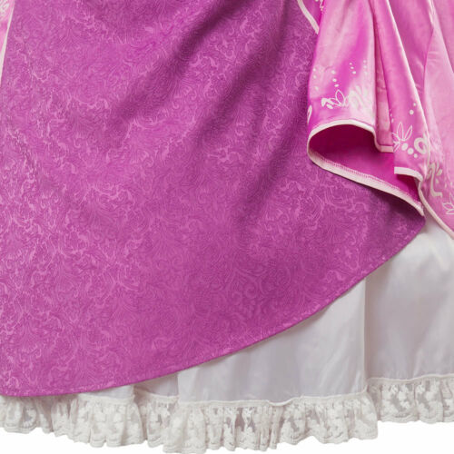 Disney Tangled Princess Rapunzel COSplay Costume Party Dress Gown Attire Outfit