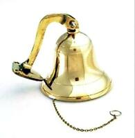 Brass Polished Ship Bell 4 Nautical Decoration, New, Free Shipping