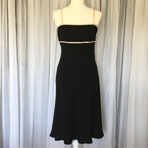Maggy-London-Womens-Black-Beige-Sleeveless-Dress-Sz-4