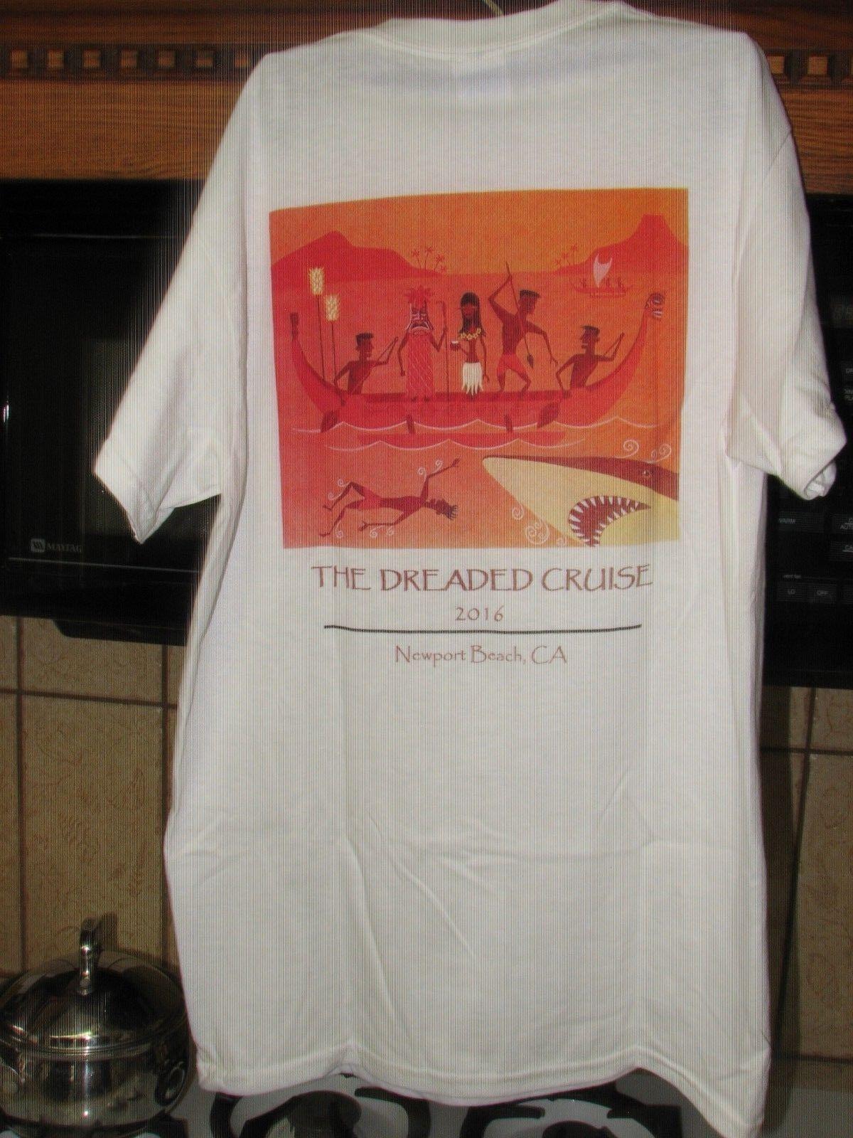 The Dreaded Cruise Tiki cruise Newport Beach t shirt art by Shag New