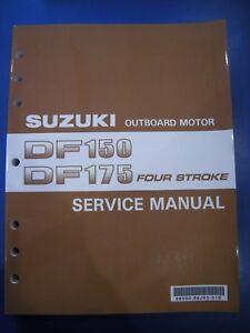 suzuki df150 175 factory full service manual ebay rh ebay com Suzuki DT30 Suzuki Outboard DF 175 White Pictures