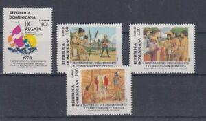 Dominicaine-Republique-1625-28-Decouverte-Amerique-MNH