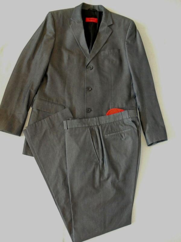 Hugo Boss Albo Hago Herren Anzug Mens Suit Sakko Hose Pants Gr 98 Ca 52 Business