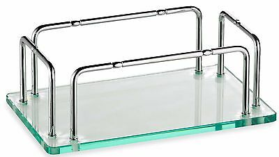 Clear Glass Towel Holder Vanity Tray Calming Warm Guest
