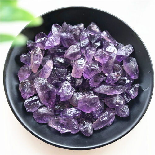50g High Quality Natural Rough Amethyst Gravel Stone Quartz Crystal Gemstone