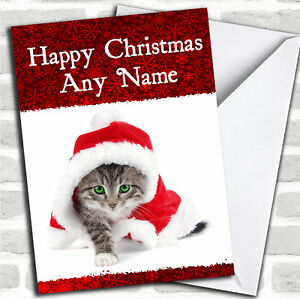 Beautiful-Green-Eyed-Tabby-Cat-Christmas-Customised-Card-Personalized