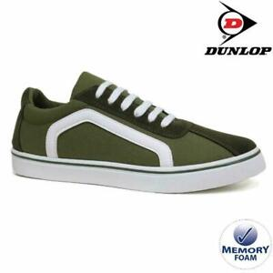 MENS-DUNLOP-MEMORY-FOAM-KHAKI-CANVAS-PLIMSOLLS-PUMPS-SHOES-TRAINERS-SIZES-7-12