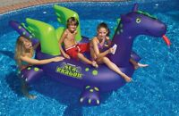 Swimline 90625 Swimming Pool Kids Giant Rideable Sea Dragon Inflatable Float Toy