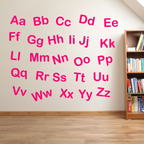 Nursery Alphabet Letters Lower /& Upper Case Writing Wall Stickers Decal Kid A210