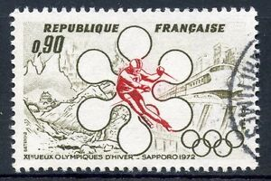 STAMP-TIMBRE-FRANCE-OBLITERE-N-1705-JEUX-OLYMPIQUES-HIVERS-A-SAPPORO