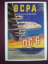 POSTCARD DGA-013  B.C.P.A LEADS THE WAY ACROSS THE PACIFIC