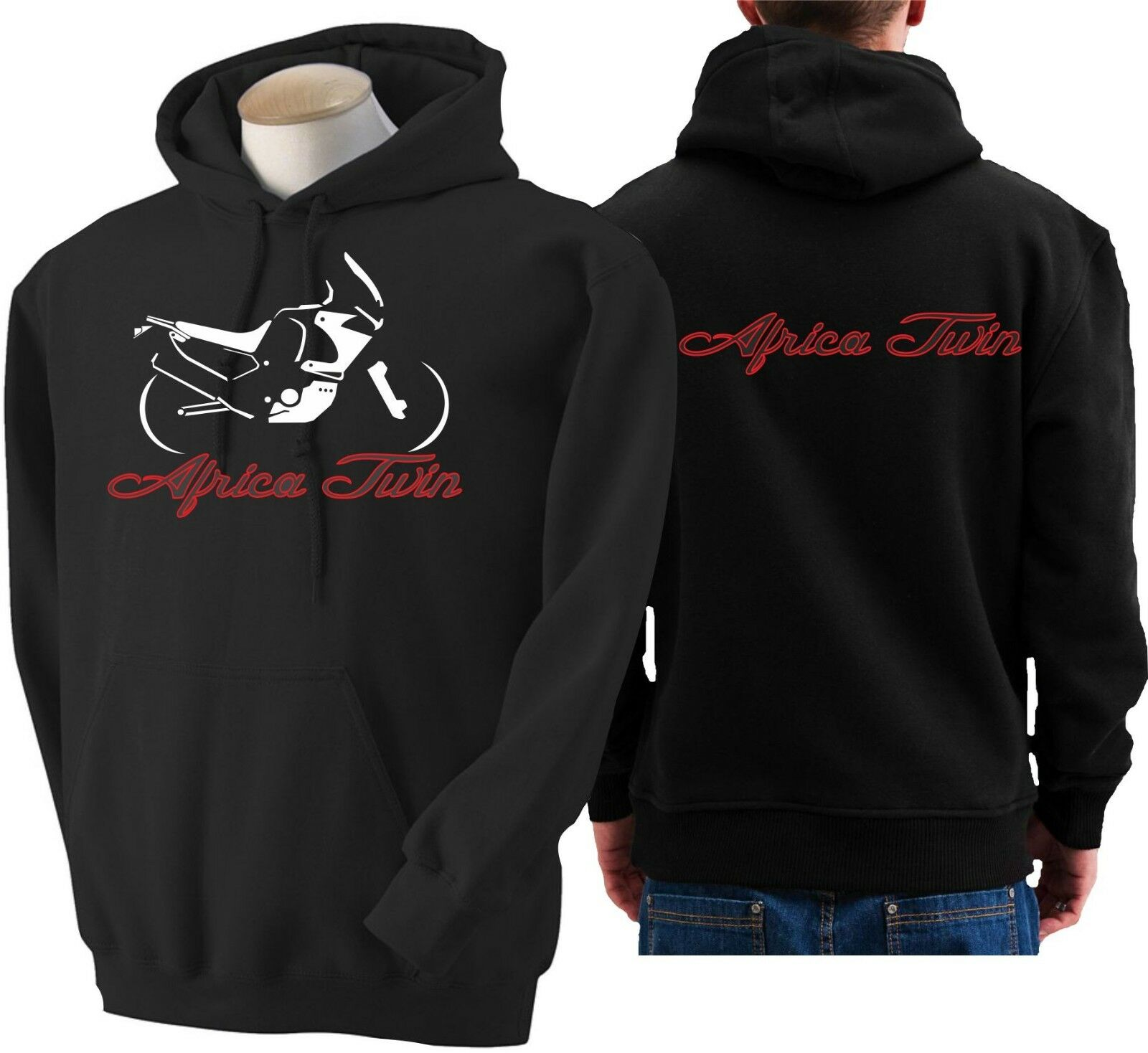 Hoodie for bike Honda Africa Twin sweatshirt hoody Sudadera moto sweater
