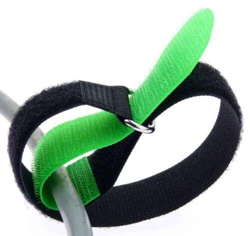 Cavo 20x nastro di velcro 40 CM x 40 mm Neon Verde Nastro Di Velcro Velcro Fascette per cavi a nastro ASOLA
