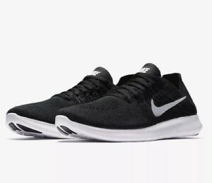 Nike-Free-rn-Flyknit-2017-UK-8-EU-42-5-running-negras