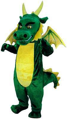 Green Dragon Professional Quality Lightweight Mascot Costume Adult Size