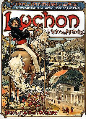 Smart Alphonse Mucha Luchon Art Nouveau Deco Large A3 Sized Poster & Free Dance Print Antiques Art Nouveau