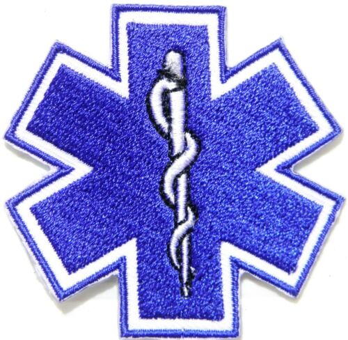 Iron on Patch EMS EMERGENCY MEDICAL SERVICE Rescue Cap Hat T shirt Emblem Sign