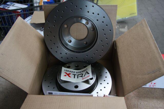 Brembo Xtra Discos de Freno Perforado Audi,Seat,Skoda,VW Kit para Delante