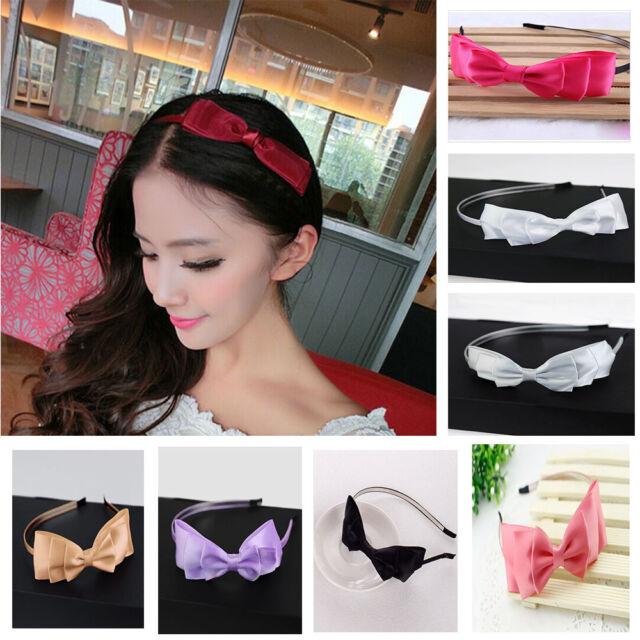 Hot Sale Women's Big Bowknot Ribbon Hair Accessory Headband Bow Head Band Clip