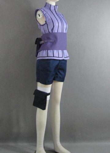 Hinata Hyuga Ninja Uniforme Cosplay Costume Custom Made