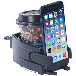 Getraenkehalter-2in1-Getraenke-und-Smartphone-Halterung-fuer-Kfz-Lueftungsgitter