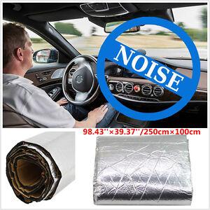 Details About 1m 2 5m Firewall Heat Shield Mat Car Interior Sound Deadener Insulation Barrier