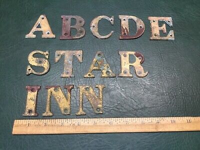Bronz or brass very heavy Buy It Now Is For 1 ARCHITECTURAL building letter
