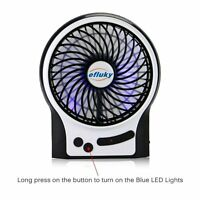 Mini 3 Speeds Strong Wind Rechargeable Portable Fan For Table Travel